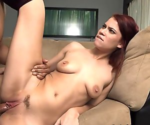 Redheaded babe who loves gagging on cock got face fucked