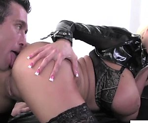 Nikita Von James in lingerie fucked