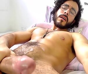 Alexdimartino, huge thick cock and nice cumshot on Chaturbate