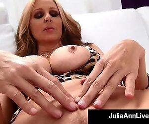 Dick Licking Milf Julia Ann Milks Cock In Her ...