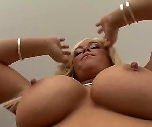 Rich breasted blondie Crista Moore gives head to Mark Wood