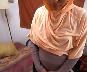 Amazing Arab chick sucks massive cock and gets pussy poked from behind