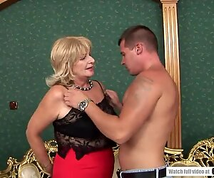Old business woman needs a young dick