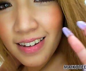 Blowjob by beautiful Japanese Hikari Asakawa before vibrator masturbation