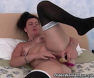 british granny likes a fake penis up her ass