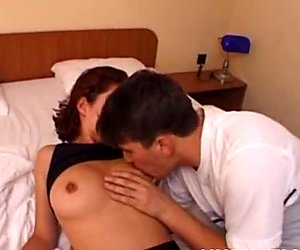 Amateur girlfriend with big tits hotel room action