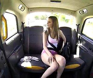 Big jugs teen Stella Cox sex in the car