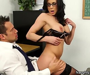 Johnny Castle drills his teacher Kendra Lust