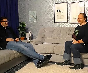 AmateurEuro - Chubby German Gilf Rides a Thick Younger Cock