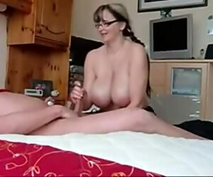 really huge-boobed wife Strokes Cock