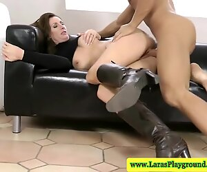 Mature british in boots fucked in her tight pussy