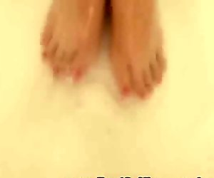 Wet Sexy Girl Naked In The Bathtub