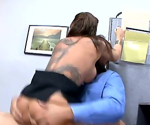 Chestnut whore Lily Paige is a cock rider