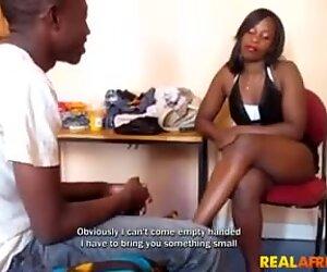 Amateur Black Teen Couple Fucks at Home