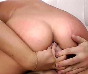 Babe assfucked hard in cowgirl position