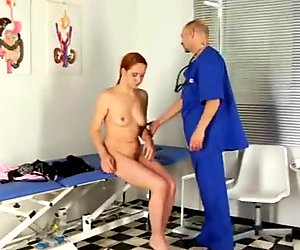 Redhead babe and gynecologist