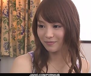 Maomi Nakazawa gives the hottest asian blowjobs
