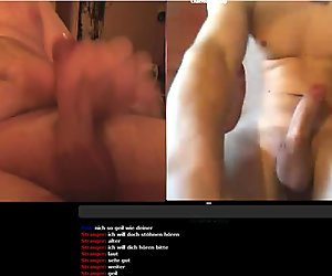 me and guy on webcam