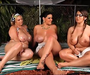 Angelina Castro OutDoors Oily threeway and fuck-a-thon Stories!