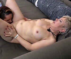 Dirty grandmother fucks mature lesbian mom