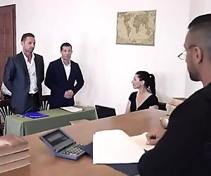 Judgement Day - Sexy Lawyer Negotiates Double Penetration