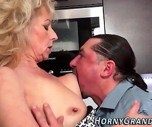 Slutty granny rides dick