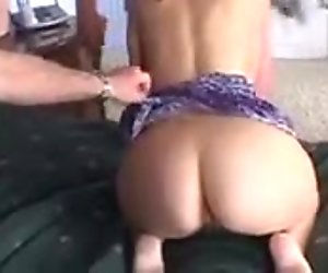 Cute wife gets fucked hard by two older dudes in front of husband