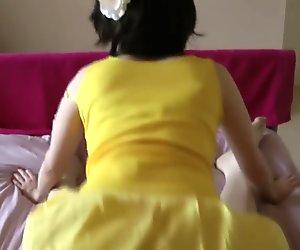 Yellow Dress Fuck With Cum On Ass