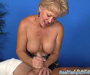 expert light-haired mega-slut giving a handjob