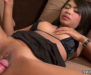 Calm Thai slut fucks a John who can barely functio