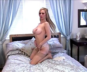 Lucy Alexandra naked and flirting with the camera man