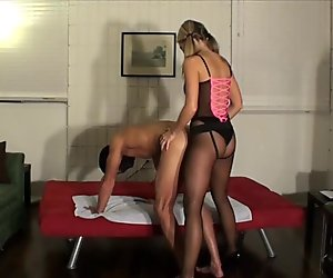 Hot Blonde Gives a good Strapon Dick