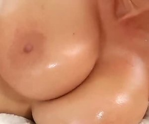 Oiled up chubby bitch is re for some hard penetration
