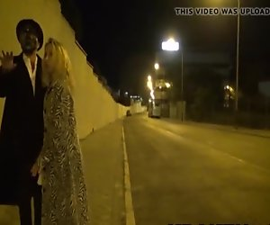Obedient Mature wife in the street, secret public submission