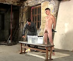 Twinks fondling Poor Leo can't escape as the wonderful youngster gets