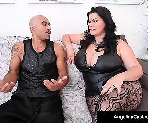 Les beaux cubains Angelina Castro et le roi noire baisent maman salope Angelina Castro!