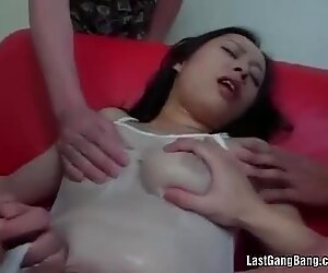 Asian mature slut gang bang oral pleasure