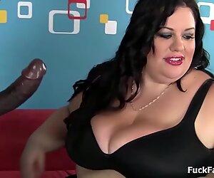 bbw Gigantic Boobs And Ass Against Big black weenie