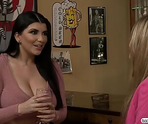 Milf eating out her younger agents pussy