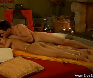 Indian Woman Lays Back For Pleasure