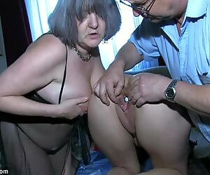 OldNanny Sexy Girl play with old man and mature