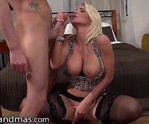 My Lonely Hot Step-Mom Wants My Big Cock So Bad - LustyGrandmas