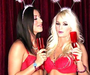 Rilynn Rae and Emily Austin enjoy a Valentines romp