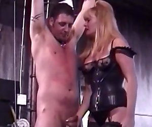 We love whipping our slave boys in the balls