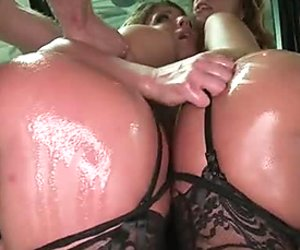 threesome,babes,ass,booty,stockings,anal,doggy,blowjob,deepthroat,oiled,pantiesHorny guy fucks two bootyful sexy whores in his car hard