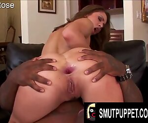 Smut Puppet - White Booties Stuffed with Thick Black Dongs Compilation 7