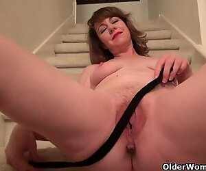 Busty milf Tricia teases you with her inviting cunt