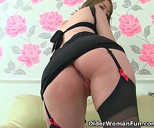 brit mummy stellar P feels so naughty today in black stockings