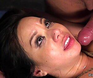 Busty deep throat Asian rough banged