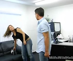 Fuckable office manager Honey hooks up with her boss